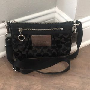 Coach Poppy Black Crossbody Fabric